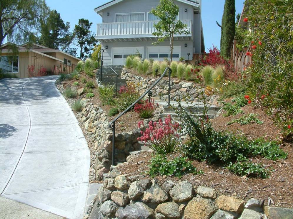 Steep driveway for Sloped driveway options